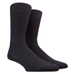 Lot de 6 chaussettes à côtes en laine - Noir