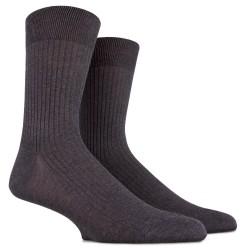 Lot de 6 chaussettes à côtes en fil d'écosse - Gris