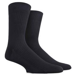 Lot de 6 chaussettes DD fil d'écosse noires à côtes
