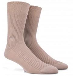 Chaussettes DD beiges en pur fil d'Ecosse