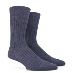 Chaussettes en laine - Bleu Jean
