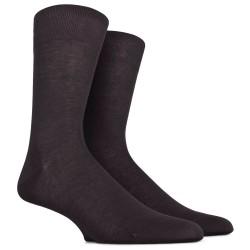 Chaussettes jersey fines en pur fil d'écosse - Noir