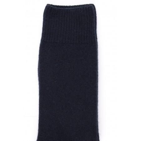 Chaussettes homme en laine et cachemire - Bleu marine foncé