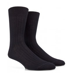 Chaussettes noires en laine