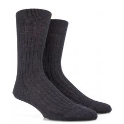 Chaussettes en laine gris foncé