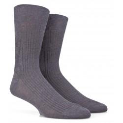 Chaussettes Fil d'Ecosse gris moyen