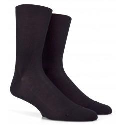 Chaussettes Fil d'Ecosse noires jambes sensibles