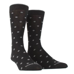 Chaussettes à pois en coton doux - Noir à pois gris