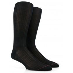 Chaussettes luxe noires en laine mérinos