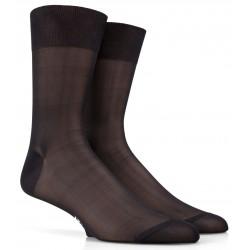 Chaussettes noires en pure soie