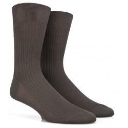 Chaussettes DD kaki en pur fil d'Ecosse