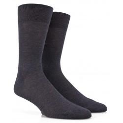 Chaussettes grises fines en pur fil d'écosse