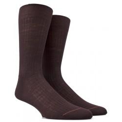 Chaussettes luxe marron en laine mérinos
