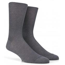 Chaussettes jambes sensibles en fil d'écosse - Gris moyen