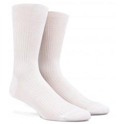 Chaussettes blanches Fil d'Ecosse à côtes