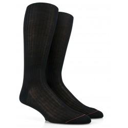 Chaussettes luxe en fil d'écosse extra fin - Noir