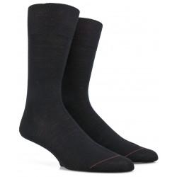 Chaussettes en laine merinos et soie - Noir