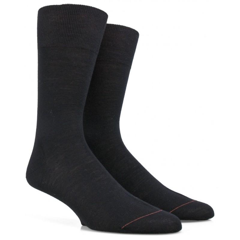 chaussettes dor dor en laine merinos et soie noir. Black Bedroom Furniture Sets. Home Design Ideas